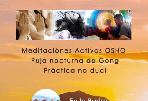 Retiro «Transitando el vacío»  Meditaciones Activas – Puja de Gong – Quietud